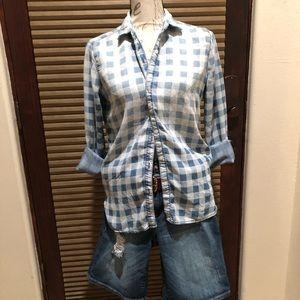 Sneak Peek Long Sleeved Button Down Shirt